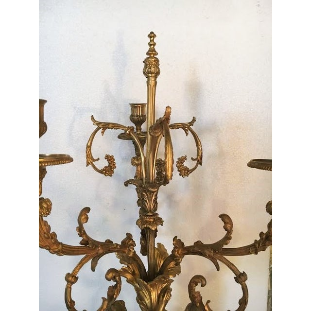 Gilt Bronze Double Figure Candelabras - A Pair For Sale In New York - Image 6 of 10