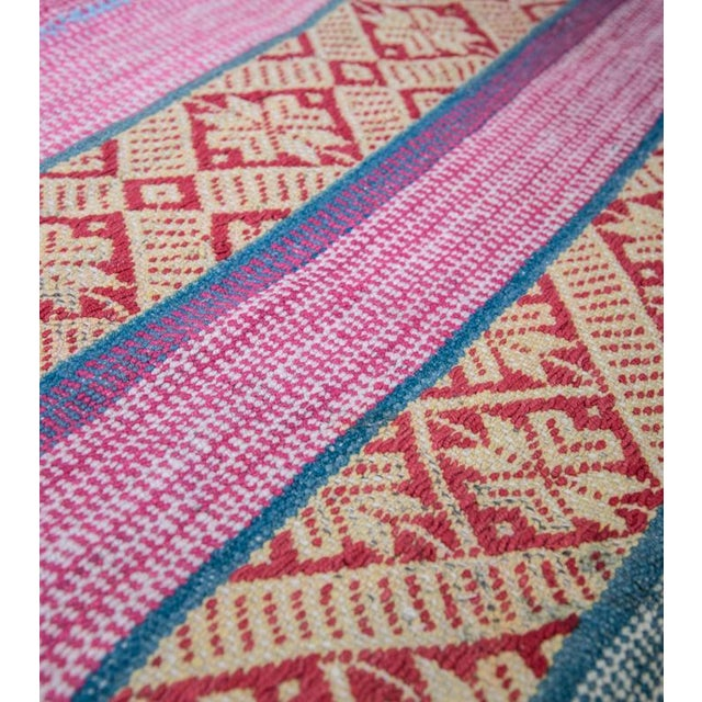 Red Handwoven Peruvian Throw - Image 2 of 5
