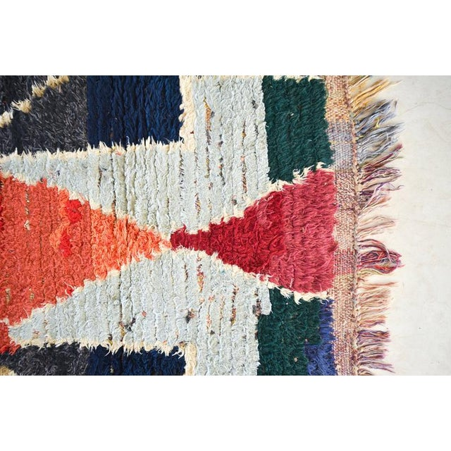 1970s Vintage Boucherouite Moroccan Wool Rug - 3′1″ × 6′6″ For Sale - Image 4 of 6