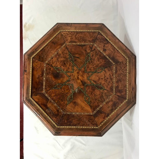 Wood Syrian Octagonal Folding Traveling Table For Sale - Image 7 of 9