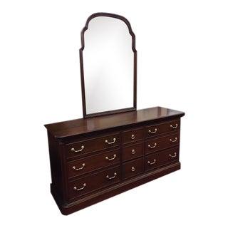 Vintage Ethan Allen Dresser With Mirror For Sale