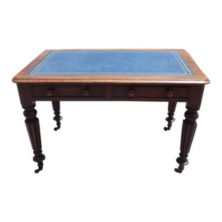 Antique Victorian English Mahogany Partners Desk For Sale