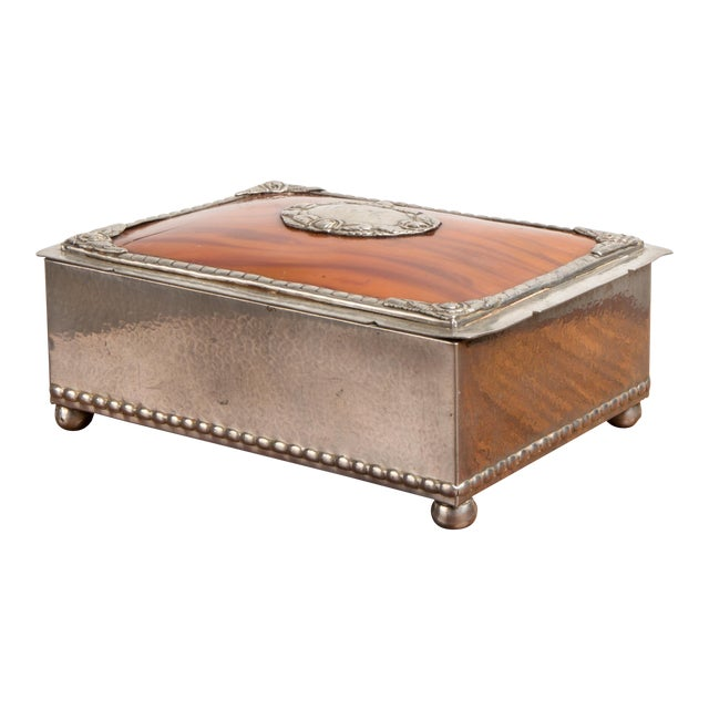1940s Danish Modern Jewelry Box With Balled Feet For Sale