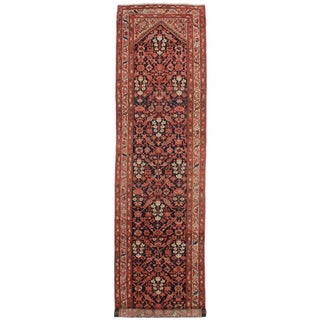 Antique Persian Malayer Wool Runner - 3'6 x 13'11""