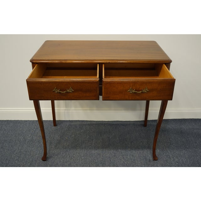 """1960s Vintage Antique Country French Walnut 35"""" Vanity For Sale In Kansas City - Image 6 of 12"""