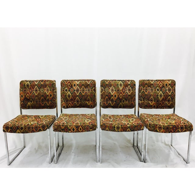 Vintage Mid-Century Modern Chrome Frame Chairs - Set of 4 For Sale - Image 11 of 11