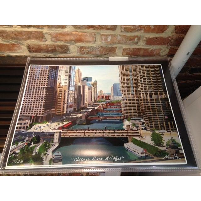Chicago River Bridges, Giclee Print - Image 2 of 3