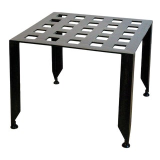 Grid Steel Side Table