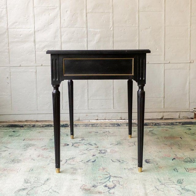 1920s French Ebonized Mahogany Writing Desk For Sale In New York - Image 6 of 13