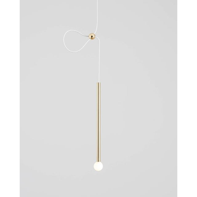 Contemporary Contemporary Strike Matte Black Modern Painted Brass Pendant Light For Sale - Image 3 of 7