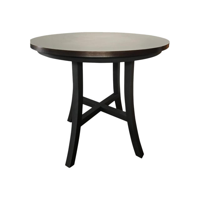 Burnished Copper Top Accent Table Chairish - Copper top accent table