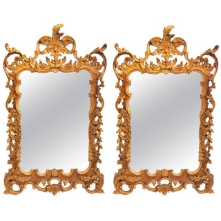 Italian Labarge Rococo Gilt Mirrors - A Pair For Sale
