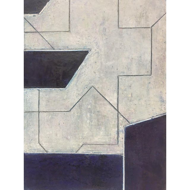 Geometric Abstract Oil Painting From the Ancient Modern Series by Stephen Cimini For Sale - Image 4 of 7