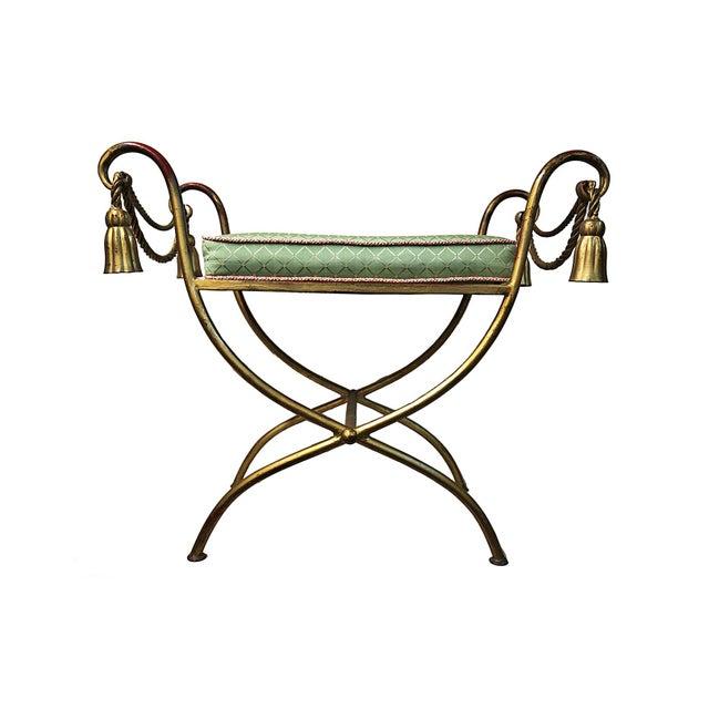 Vintage Italian Rope & Tassel Footstool - Image 1 of 4
