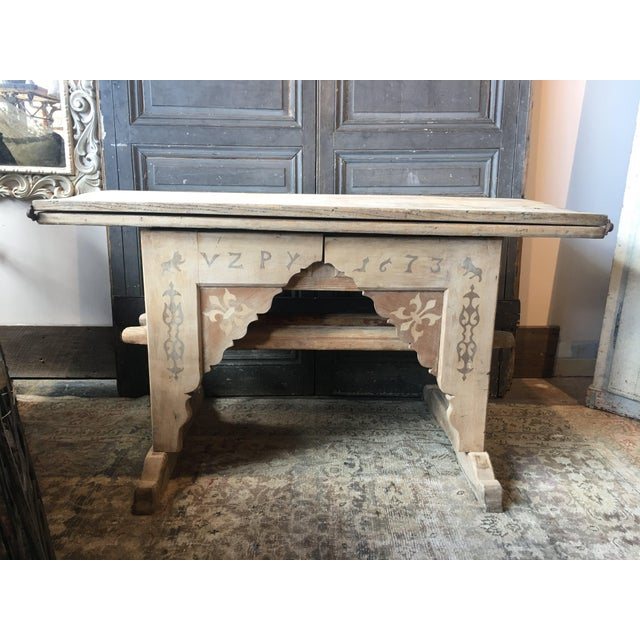 Antique Swiss Money Changing Table - Image 13 of 13