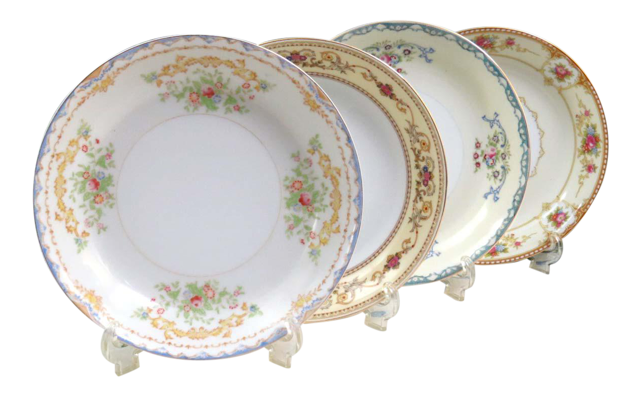 Vintage Mismatched Fine China Soup Bowls - Set of 4  sc 1 st  Chairish & Vintage Mismatched Fine China Soup Bowls - Set of 4 | Chairish