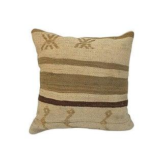 Neutral Kilim Pillow For Sale