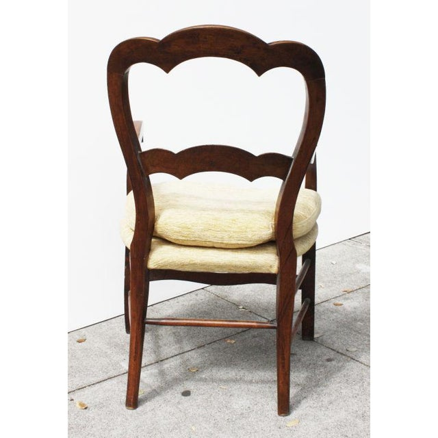 French Antique 19th Century French Fruitwood Armchairs - a Pair For Sale - Image 3 of 4