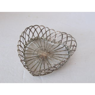 Vintage Silver-Plate Heart Shaped Basket Preview
