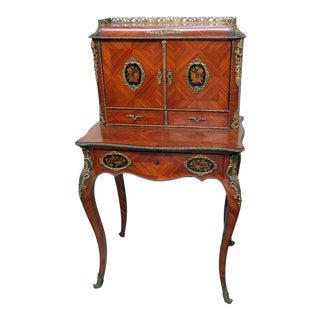 Louis XVI Style Inlaid Ladies Desk For Sale