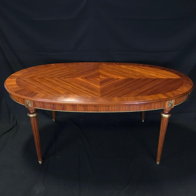 Mid 19th Century Louis XVI Style Oval Fruitwood Dining Table For Sale - Image 12 of 12