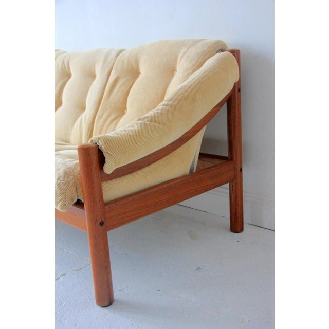 Mid-Century Modern Vintage Mid-Century Modern Domino Mobler Tufted Sofa For Sale - Image 3 of 5