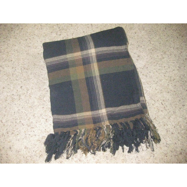 Ralph Lauren Plaid Cotton Throw For Sale - Image 4 of 4