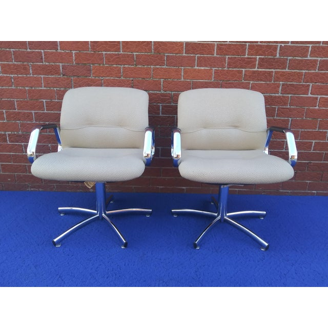 Mid-Century Modern 1980's Vintage Steelcase Chair For Sale - Image 3 of 12