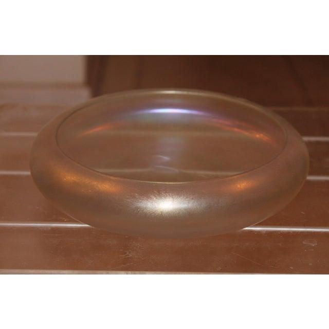 Steuben Verre De Soie Opalescent Low Bowl - Image 3 of 5