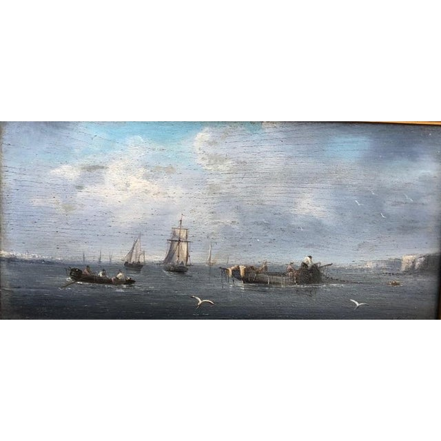 Late 19th Century Late 19th Century Oil Seascape Paintings - a Pair For Sale - Image 5 of 9