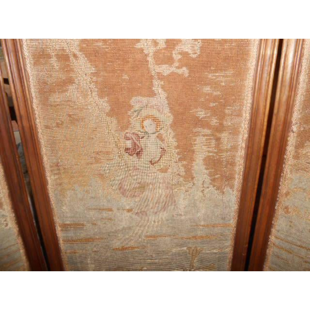 Brown Petite French Dressing Screen For Sale - Image 8 of 10