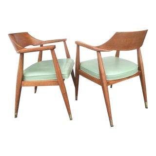 Mid-Century Arm Chairs by Johnson Co.- A Pair For Sale