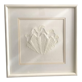 White Conch Shell Limited Edition 3d Print - Framed, Numbered and Signed by Artist For Sale