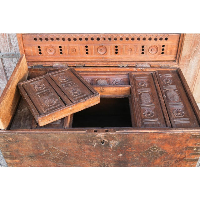19th Century Wood Dowry Trunk For Sale - Image 4 of 9