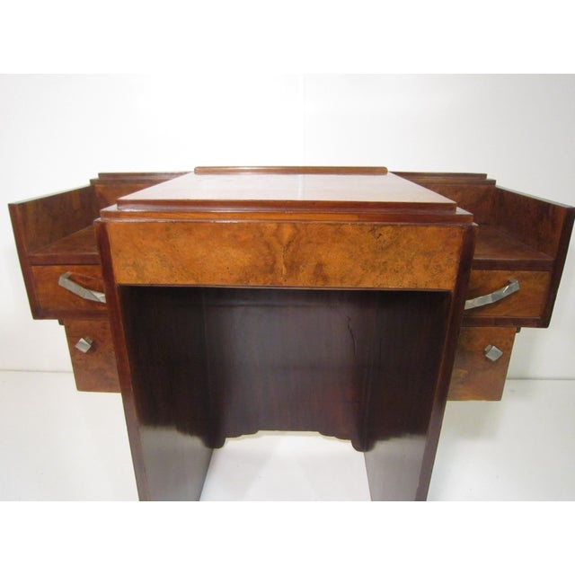 Early 20th Century French Art Deco Writing Vanity Desk For Sale - Image 9 of 13