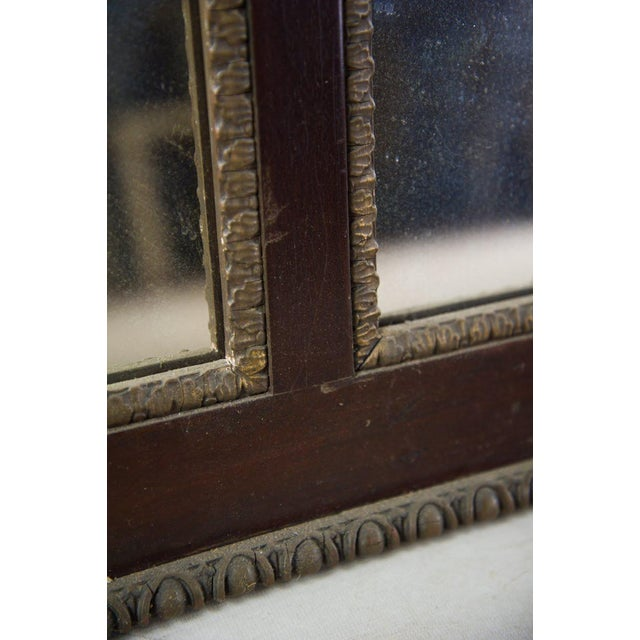1930s Antique Regency Mahogany and Giltwood Mantel Mirror For Sale - Image 5 of 8