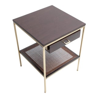 Customizable re: 292 bedside table with brass frame For Sale