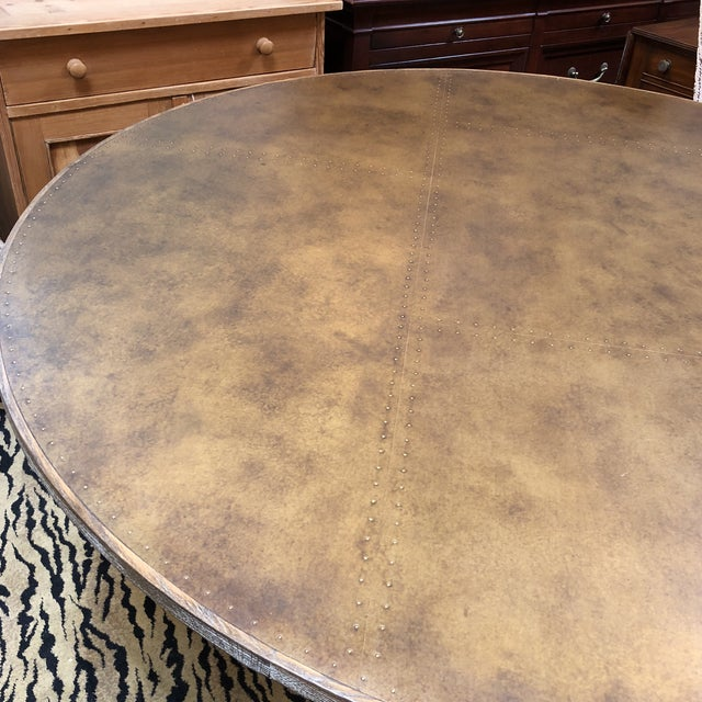 Four Hands Powell Pedestal Dining Table For Sale - Image 5 of 12
