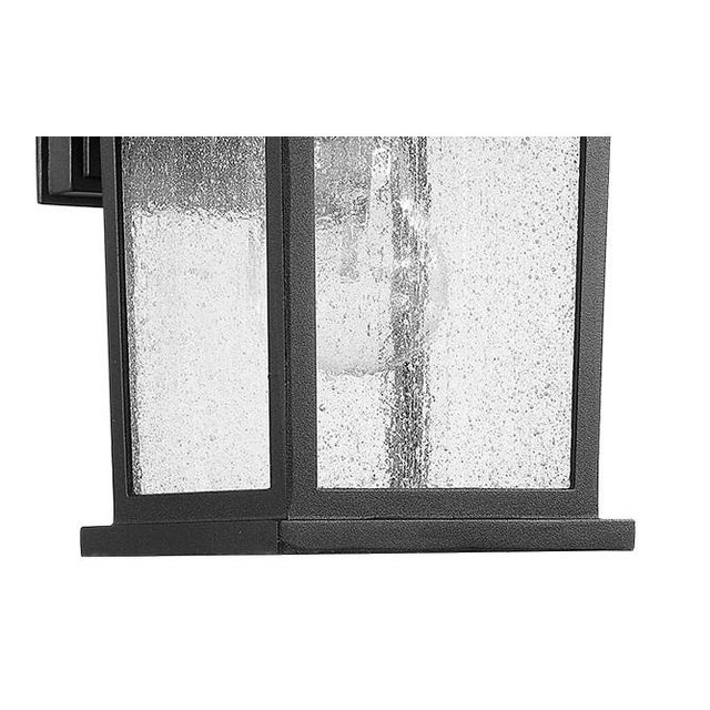 Traditional Carriage House 1 Light Outdoor Wall Sconce, Black - Aluminum For Sale - Image 3 of 4