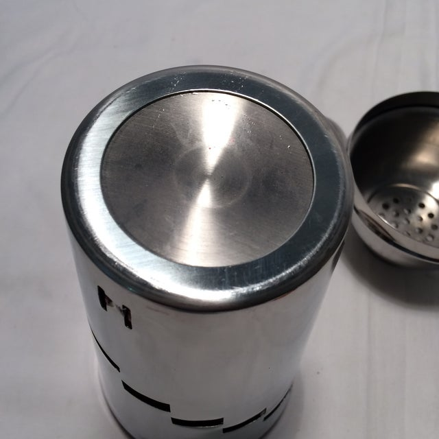 Red Anodized Stainless Steel Recipe Cocktail Shaker For Sale - Image 10 of 11