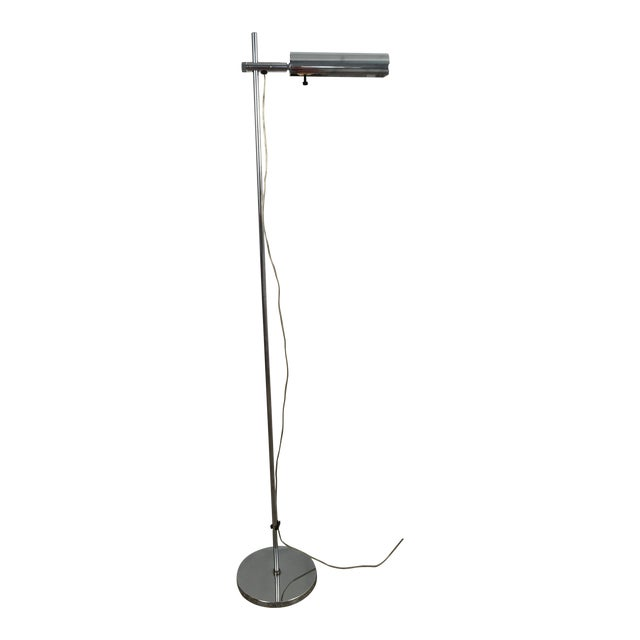 Vintage Koch & Lowy OMI Chrome Floor Lamp For Sale