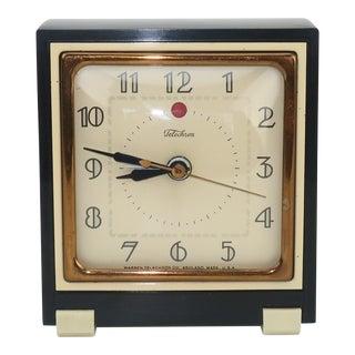 Telechron 1930's Art Deco Alarm Clock For Sale