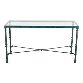 Diego Giacometti Style Iron Console Table, Metal Console Table For Sale