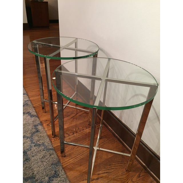 HD Buttercup Chrome & Glass Side Table - A Pair - Image 6 of 6