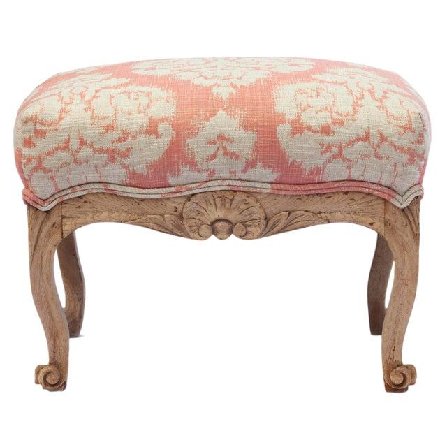 1900s Vintage Handcarved French Oak Footstool For Sale