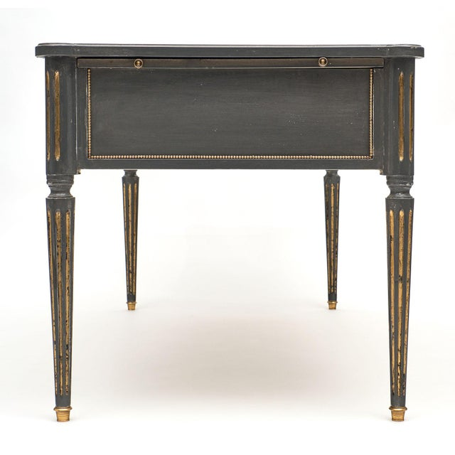 Antique French Louis XVI Style Gray Painted Desk For Sale - Image 11 of 13