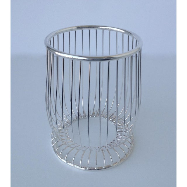 Contemporary Newport by Gorham Silver Wine Bottle Holder For Sale - Image 3 of 11