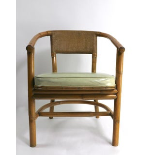 2 Matching Bamboo Arm Chairs Attributed to McGuire Preview