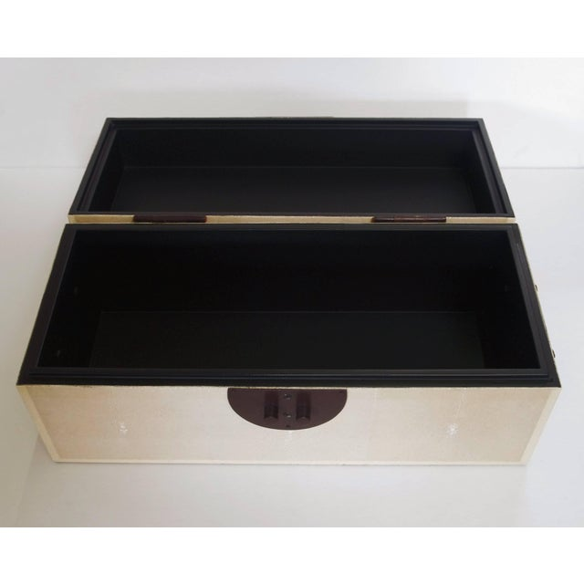 Early 21st Century Ivory Shagreen Wood Box by Fabio Ltd For Sale - Image 5 of 6