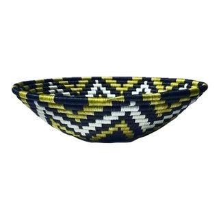 African Basket / Rwanda Baskets/ Woven Basket/ Sweet Grass and Sisal/ Boho| Wall Hanging Basket| Fruit Basket For Sale